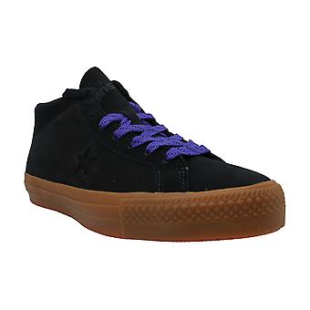 Converse Unisex One Star Pro Leather Mid Black/Gum/Candy Grape Skate Shoe 11 ...