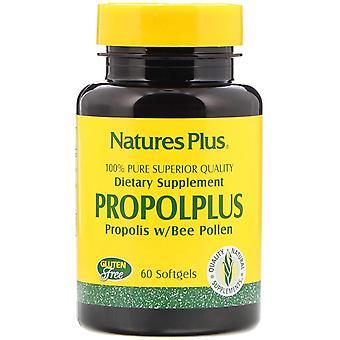 Nature-apos;s Plus, Propolplus, Propolis w/Bee Pollen, 60 Softgels
