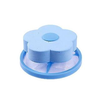 Washing Machine Filter Mesh Pouch Fiber Collecter Blue