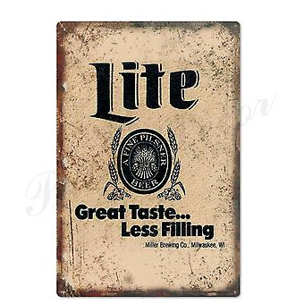 Beer Metal Sign Plaque For Wall Decor