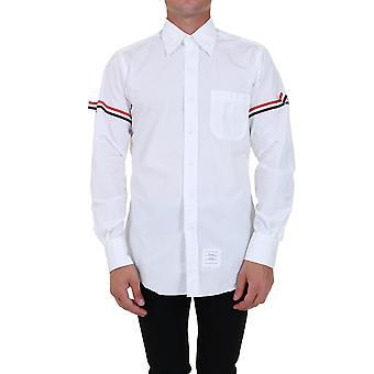Thom Browne Mwl150e00906114 Men's White Cotton Shirt