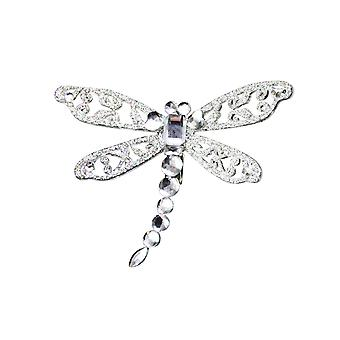 Large Gisela Graham Crystal & Glitter Dragonfly Clip-On Decoration
