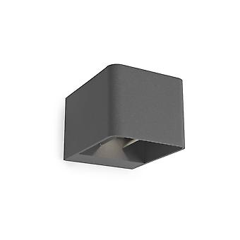 Leds-C4 Wilson - Outdoor LED Up Down Wall Light Urban Grey 855lm 2700K IP65