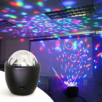 Disco Ball Party Stage Projector Lights Mini Led Voice Activé Usb Crystal