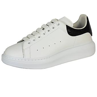 Alexander mcqueen men's white leather oversized trainers