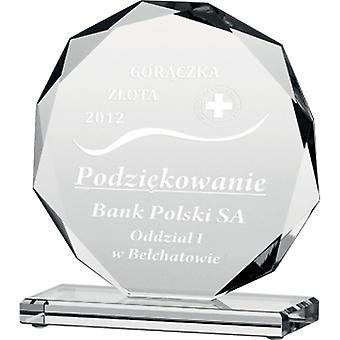 Gegraveerde glazen trofee