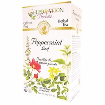 Celebration Herbals Organic Peppermint Leaf Tea, 24 Bags