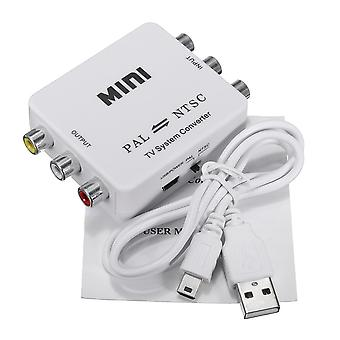Mini PAL to NTSC TV Video System Bi-directional Converter Switch Adapter