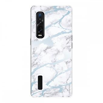 Hull For Oppo Find X2 Pro In Silicone Soft 1 Mm, Blue Marble
