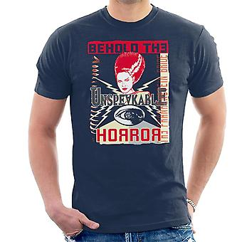 The Bride Of Frankenstein Behold The Unspeakable Horror Men's T-Shirt