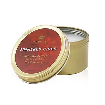 Thymes Aromatic Candle (Travel Tin) - Simmered Cider 70g/2.5oz