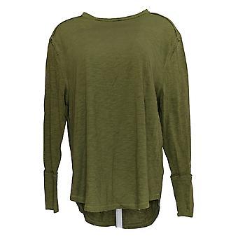 All Worthy Hunter McGrady Women's Top Relaxed Tee Shirt Green A384588