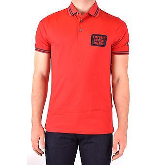 Emporio Armani Ezbc113031 Men's Red Cotton Polo Shirt