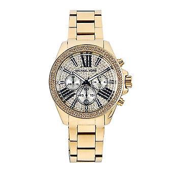 Michael Kors Mk6095 Wren Crystal Dial & Gold tón z nerezové oceli Chronograph Dámské hodinky