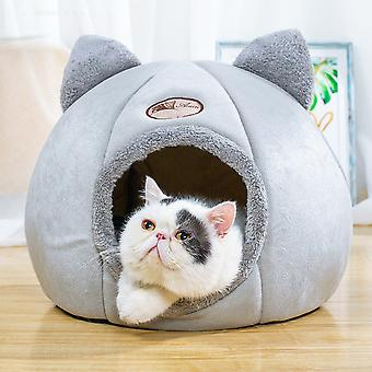 Foldable and Removable  Cat Bed Self Warming for Indoor Cat Dog House with Mattress Puppy Cage Lounger Grey ropa para perro Drop