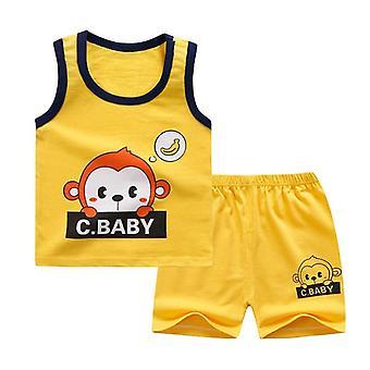 Soft Shortsit Puku T-paita, Lasten Dinosaur Sarjakuva Vauvanvaatteet