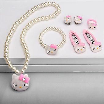 Children Hair Accessories Set, Jewelry Accessories Necklace Bracelet
