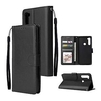 Stuff Certified® Xiaomi Redmi Note 9 Pro Flip Leather Case Wallet - PU Leather Wallet Cover Cas Case Black