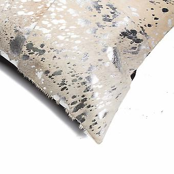 """18"""" x 18"""" x 5"""" Silver And Gray, Quattro - Pillow 2-Pack"""