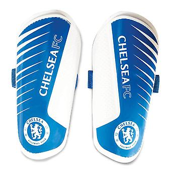 Chelsea FC Football Soccer Youth Slip In Shinguard Shin Protection Bleu/Blanc