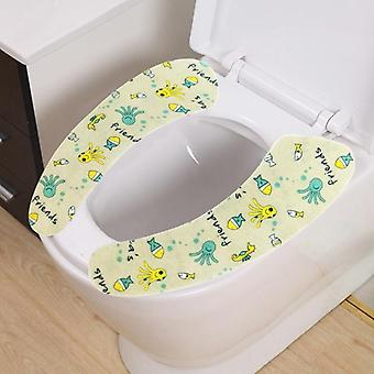 Washable And Warm Printed Toilet Seat Cover Mat