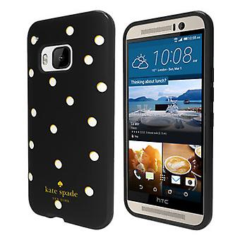 Kate Spade Flexible Hardshell Case for HTC One M9 - Scatter Pavillion (White Dots on Black)