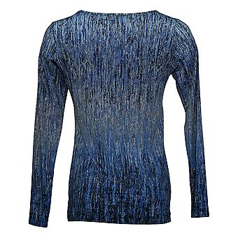 Linea By Louis Dell'Olio Women's Top XXS Abstract Printed Long Sleeve A295912