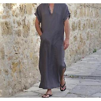Men Robes V-neck Short Sleeve