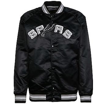 Mitchell & Ness San Antonio Spurs kevyt satiinipommittaja takki musta SASBLACK