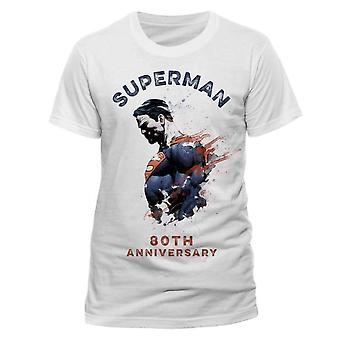 Superman Unisex Adult 80th Anniversary T-Shirt