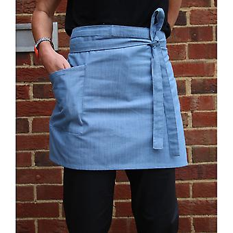 Dennys Unisex Cross Dyed Denim Waist Apron with Pocket