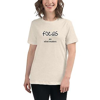 Focus on what matters - Short-sleeved T-shirt, ladies