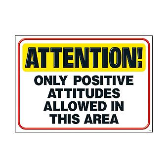 """Attention! Only Positive... Argus Poster, 13.375"""" X 19"""""""