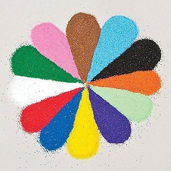 Baker ross mini tašky z farebného piesku. farebný piesok v 12 rôznych farbách - 12 vriec po 40g