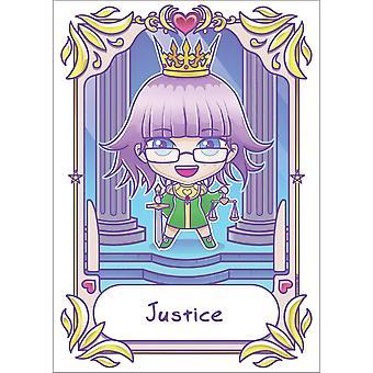 Deadly Tarot Justice Kawaii Poster