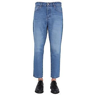 Ami E21hd204601480 Men's Blue Cotton Jeans