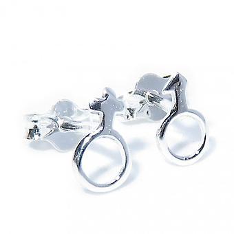 Tiny Mandlige og kvindelige Sterling Sølv Stud Øreringe 0,925 X 1 Par Studs