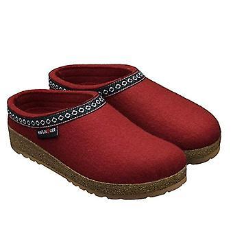 Red Wool Felt Franzl Haflinger Slippers