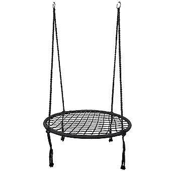 Sedia sospesa - altalena nido - nero - 80 cm di diametro