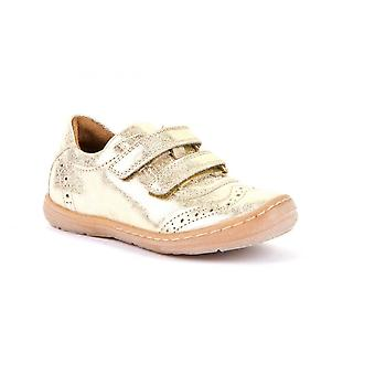 FRODDO Double Velcro Trainer Style Shoe In Gold