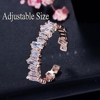 Women Engagement Wedding Bridal Party Cubic Rings Sets, Jewelry