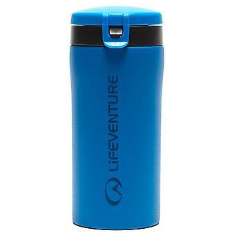 New LifeVenture Flip-Top Thermal Travel Mug Outdoors Camping Blue