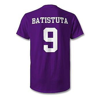 Gabriel Batistuta Fiorentina leyenda niños camiseta de héroe
