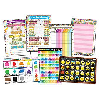 """Smart Poly French Immersion Classroom Charts, 13"""" X 19"""", Set de 7"""