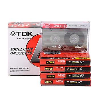 Standard Cassette Blank Tape Player Empty  Magnetic Audio Recording For Speech