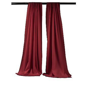 La Leinen Pack-2 Polyester Poplin Hintergrund Drape 96-Zoll breit von 58-Zoll hoch, Cranberry