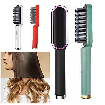multifunksjonell hår rettetrupper flat jern tourmaline keramisk hår rette curling strykejern bølgepapp styler varm kam