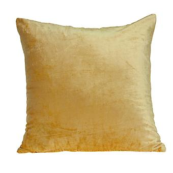 """18"""" x 7"""" x 18"""" Transitional Yellow Solid Pillow Cover With Poly Insert"""