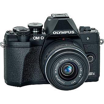 Olympus om-d e-m10 mark iiis spegelfri digitalkamera med 14-42mm iir lins (svart)