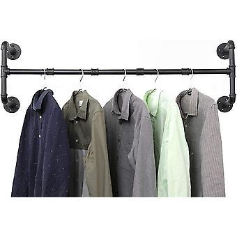 Ihomepark Kleiderstange, Garderobenstange im Industrial Design Wandmontage Garderobe Kleiderschrank